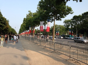 Champs Elysee ready for Bastille Day